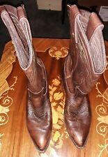 Frye Women's Billy Pull- On Western Cowboy Boots 77689 Dark Brown Calf sz 8 B