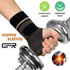 Copper Wrist Brace Support Compression Sleeve Arthritis Fit Carpal Tunnel Hand I