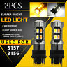 Dual Color 3157 LED DRL Switchback Turn Signal Parking Light Bulbs White/Amber