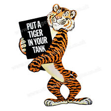"ESSO PUT TIGER IN YOUR TANK DIGITALLY CUT OUT VINYL STICKER. 3.5"" X 5"" OVERALL."