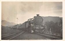 POSTCARD   RAILWAY   SCOTLAND  TYNDRUM  West  Highland  Train    1938