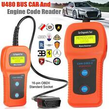 U480 Car Diagnostic Scanner Tool CAN OBDII OBD2 Memo Engine Fault Code Reader