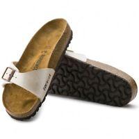 Birkenstock MADRID Womens Ladies Birko-Flor Graceful Summer Buckle Sandals Pearl