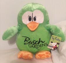 "Penguin Plush Green 9.5"" Busch Gardens Toy Factory Animal NWT new"