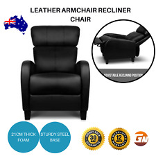 Faux Leather Armchair Recliner Chair Sofa New Lounge Padded Lazyboy Home Office