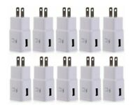 10x White Wall Charger Adaptive Fast Rapid Charging Plug For Samsung LG Phones