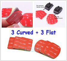 6 pieces with 3 Flat + 3 Curved 3M VHB Adhesive Pads for GoPro HERO Camera