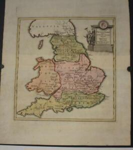 ENGLAND & WALES UNDER THE ROMAN EMPIRE 1730 HOMANN HEIRS & WEIGEL ANTIQUE MAP