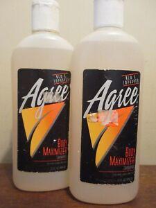 2x VINTAGE Unused 15 oz Bottle of Agree Shampoo ~Body Maximizer