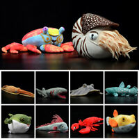 Cute Lifelike Marine Life Plush Toy Furry Stuffed Fish Nautiloidea Lobster Doll