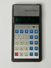 Unisonic 1540 D Electronic Calculator dc 3 Volt Tested Works Free Shipping