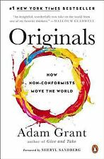 Originals Book How Non-Conformists Move the World by Adam Grant Paperback NEW