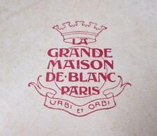 Antique 5 Linen Napkins Embroidery & Punchwork Paris La Grande Maison de Blanc