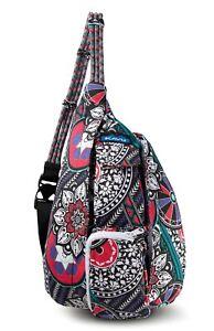KAVU Mini Rope Bag Kids Crossbody Sling Cotton Backpack - Spring Hodgepodge