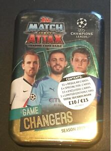 Match Attax 2019/20 Mega Tin Game Changers 50 cards including limited