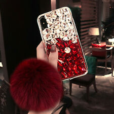 Bling Crystals Rhinestone Diamonds back soft Phone covers Cases for HTC & strap