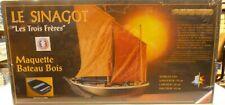 1/20 2 Masted Sinagot 1943 Morbihan Oyster Wood Fishing Boat Model Kit