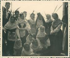 Espagne, La Palma, Santa Cruz, Costumes Traditionnels   Vintage print, Photograp