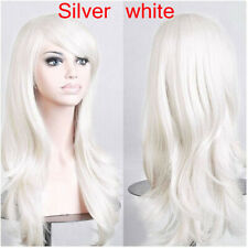 15 Colors Unisex Straight Long wavy Synthetic fiber Party Cosplay Hair Wigs