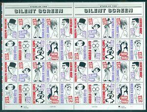 US 2819-2828 Silent Screen, Sheet/40, Mint NH