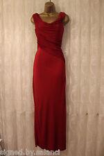 Vestido de boda Vestido de fiesta Karen Millen Drapeado Jersey Grecian Rojo Maxi largo 8 36