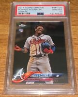 Ronald Acuna Jr. 2018 Topps Chrome Update #HMT25 PSA 10 Gem Mint Braves Rookie