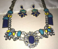 Avon Mark STATEMENT necklace and earrings, MUST SEE  NWOT