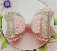 4 inch Plastic Hair bow template scalloped overlay loops make your own hair bow