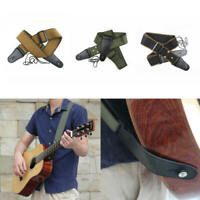 Adjustable Soft Strap Pure Cotton for Electric Acoustic Guitar Guitar Bass qwe