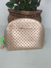 Michael Kors Perforated Cosmetic Bag  Saffiano Leather Rose Gold M6