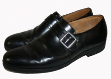 CHURCH'S Black Leather Shoes Buckle Shoes Loafers Men's Leather Monk Strap Shoes