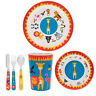 6pcs Kids Melamine Little Stars Zoo Animals Dinner Cutlery Set Cup Bowl Plate