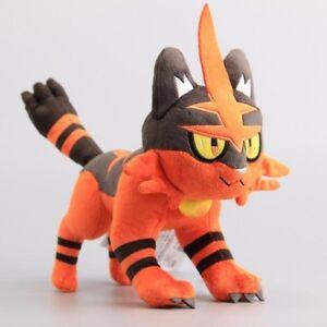 Animal Pokemon Torracat Nyaheat Litten Evolution Plush Doll Stuffed Soft Toy
