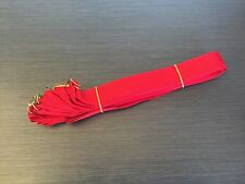 10x Red Medal Ribbons Lanyards with Gold clips. 22mm wide