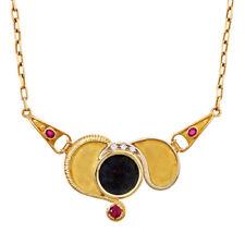Halsketten und Anhänger mit Rubin Diamanten-Brillantschliff