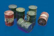 Royal Model 1/35 200 Liter 55 Gallon Fuel Barrels (7 drums) [Resin Diorama] 061