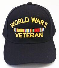 WW2 VETERAN WORLD WAR 2 MILITARY BASEBALL CAP HAT FREE SHIPPING USA