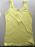 Forever 21 Yellow Top Tank Women Blouse size Large