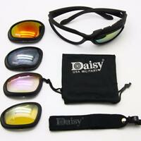 Daisy C5 Military Tactical Goggles Motorcycle Riding Sunglasses Glasses Eyewear