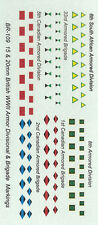 BR-109 - WWII British Division and Brigade Markings - 1/76-1/100 Decals