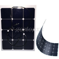 40W 13.6V Flexible Solar Panel Power USB Charge Battery RV Boat Cabin Yacht Home
