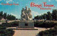 Greetings From Boys Town Nebraska Father Flanagan Postcard