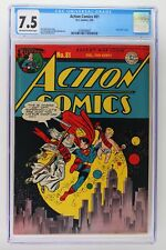 Action Comics #81 - DC 1945 CGC 7.5 -Superman- New Year's cover.