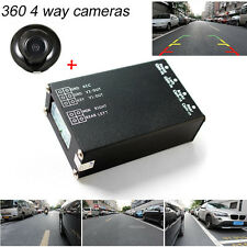360 View Car Camera 4 Way Cameras Switch System For Rear Left Right Front Camera