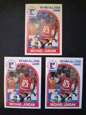 3 Card LOT 1989-90 NBA Hoops Michael Jordan All-Star Game Card #21 - SUPER SHARP