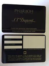 ¡S.T. DuPont Faraón garantía Tarjeta - nuevo - en blanco - menta!