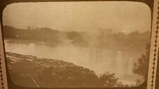 Vintage Glass Ambrotype Photo Negative Niagara Falls Bridge Construction RARE