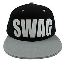 SWAG BLACK/GREY (FLOCK) Snapback Cap