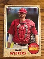 Matt Wieters 2017 Topps Heritage High Number HN Nationals Card #647  *2117*