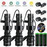Tactical Police Gun Flashlight +Picatinny Rail Mount+Switch for Hunting Shooting
